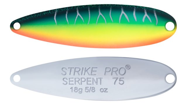 Блесна колеблющаяся Strike Pro Serpent Double 75M незацейпляка-двойник, 18,0 гр. 7,5 см. (ST-010BD#A223S-RP-CP, )