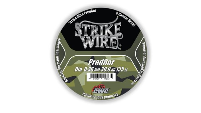 Шнур плетеный 8-жильный Strike Wire Pred8or X8 0,36mm 30kg 135m, - camo (камуфляж) (60-P036-01354, )