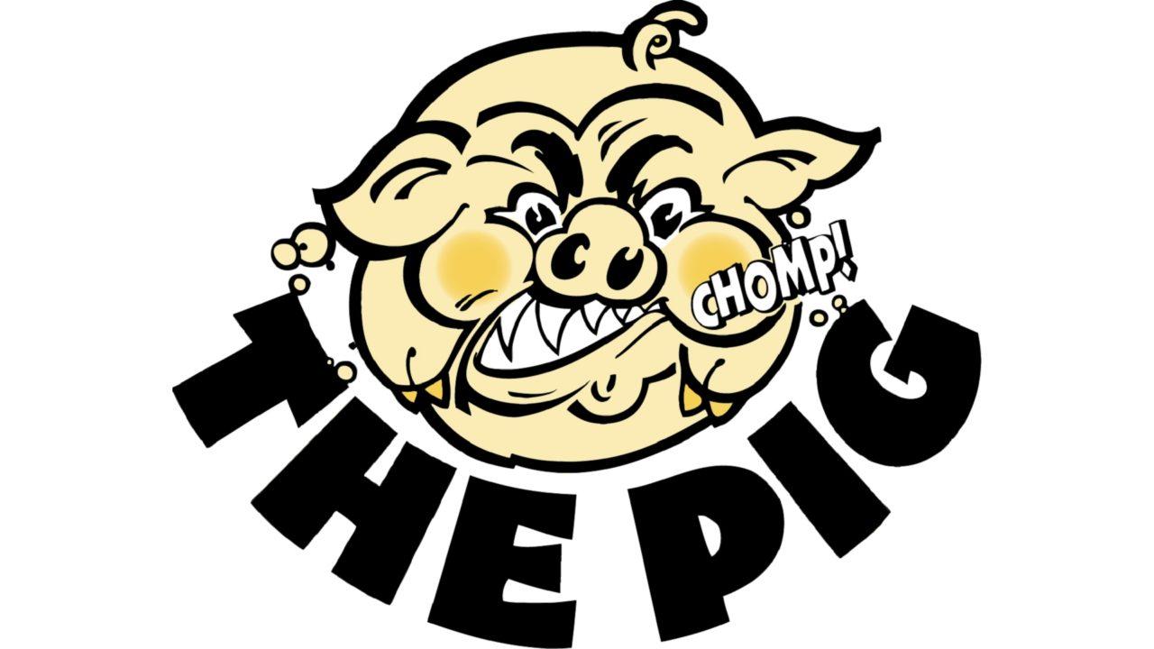 Наклейка The Pig  (10,5x12cm) (93-PIG-SMALL, )