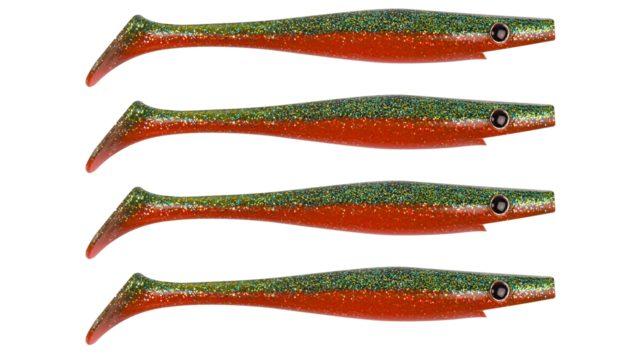 Приманка силиконовая XXL PIG SHAD Jr. 15см  21гр 4шт. Carrot (SP-172D#009, 150 мм, 21 гр, тонущий)