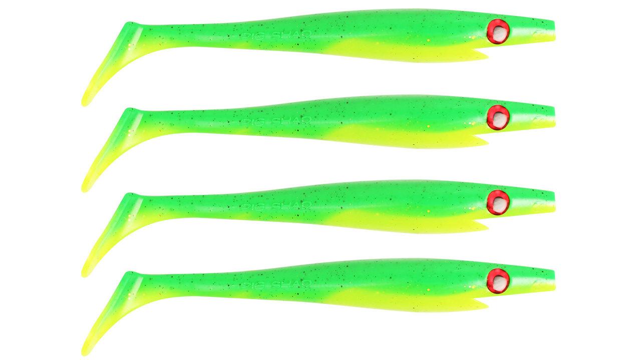 Приманка силиконовая XXL PIG SHAD Jr. 15см  21гр 4шт. Fire tiger (SP-172D#102, 150 мм, 21 гр, тонущий)