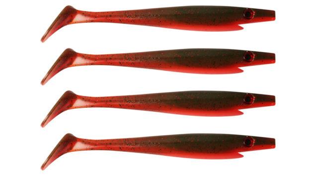 Приманка силиконовая XXL PIG SHAD Jr. 15см  21гр 4шт. Tomato (SP-172D#114, 150 мм, 21 гр, тонущий)