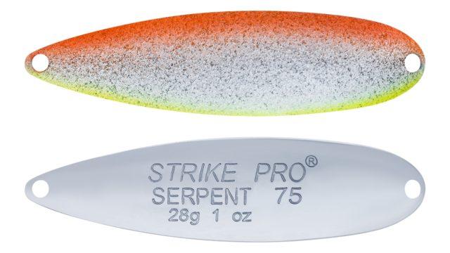 Блесна колеблющаяся Strike Pro Serpent Treble 75H тройник, 28.0 гр, 7.5 см (ST-010B2#A197-CP, 75 мм, 28 гр)