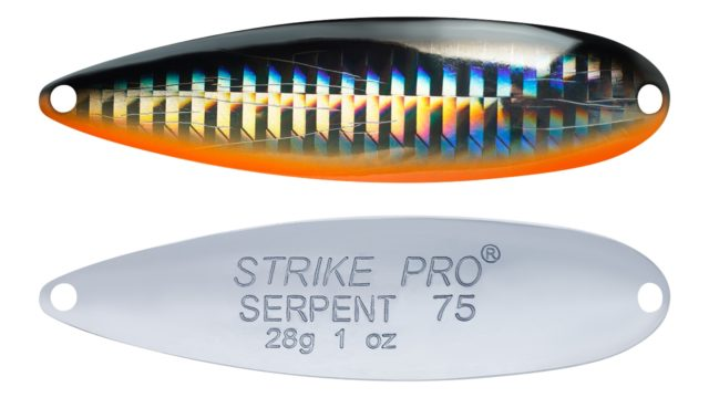 Блесна колеблющаяся Strike Pro Serpent Treble 75H тройник, 28.0 гр, 7.5 см (ST-010B2#A70-713-CP, 75 мм, 28 гр)