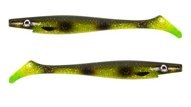 Приманка силиконовая XXL PIG SHAD Jr. 20см  50гр 2шт.  Olive Spotted Bullhead (SP-172C#134, )
