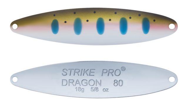 Блесна колеблющаяся Strike Pro Dragon Treble 80M тройник, 18.0гр, 8.0см (ST-07F#485-1-CP, )