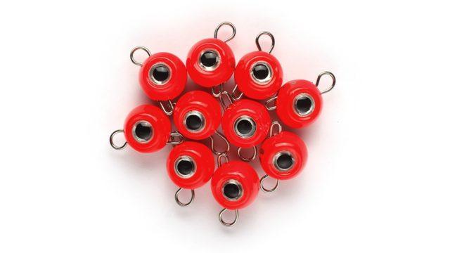 """Груз крашеный разборная чебурашка Strike Pro """"ШАР 3D EYE"""" 10 гр., цвет 01- красный, 10 шт/уп (RPS-EYE-10#RED, )"""
