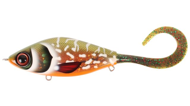 Джеркбейт Strike Pro Guppie Copper Pike - Mossgreen Glitter тонущий 13,5см 120гр (EG-208#TR-007, 135 мм, 120 гр, тонущий, 0.5-5 м)