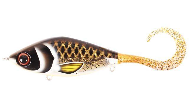 Джеркбейт Strike Pro Guppie Spotted Bullhead - Gold Glitter тонущий 13,5см 120гр (EG-208#TR-008, 135 мм, 120 гр, тонущий, 0.5-5 м)