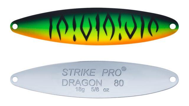Блесна колеблющаяся Strike Pro Dragon Treble 80M тройник, 18.0гр, 8.0см (ST-07F#GC01S-CP, )