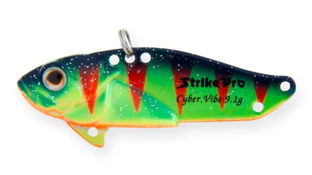 Блесна-цикада Strike Pro Cyber Vibe 65 A139FL (JG-005E#A139FL, 65 мм, 26 гр, тонущий)