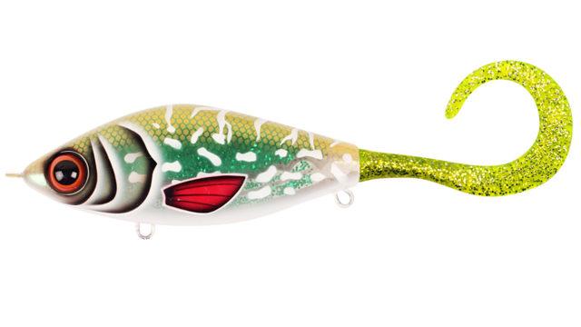 Джеркбейт Strike Pro Guppie Jr shallow Glitter Pike - Green / Gold glitter 11см 58гр (EG-208AS#TR-002, )