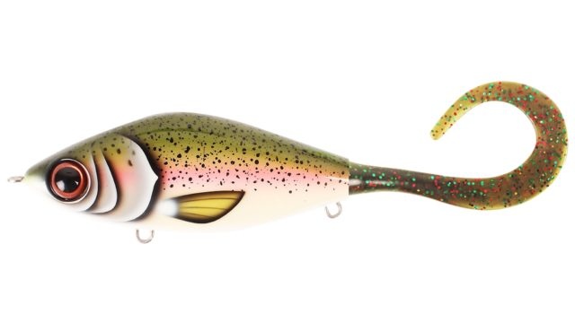 Джеркбейт Strike Pro Guppie Jr Rainbow - Mossgreen Glitter тонущий 11см 70гр (EG-208A#TR-010, )