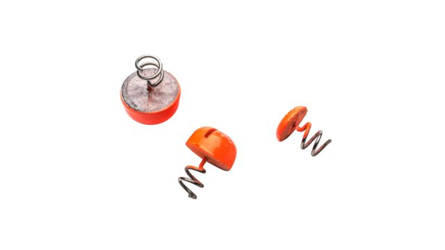 Кнопка-огрузка Svartzonker Screw-in Dots d16,4 16,2 g Fl.Orange Lead - 3 штуки (103014, )
