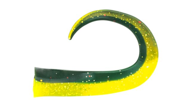 Хвосты Svartzonker McTail Glide Tail Junior 12см 3,5гр 3шт - C22 Black/Chartreuse (106522, )