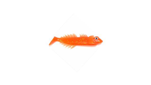 """Виброхвост-""""Бычок"""" Takedo TKS2902 7,5см. F004 оранжевый с блестками(5 шт) (TKS2902#F004, )"""