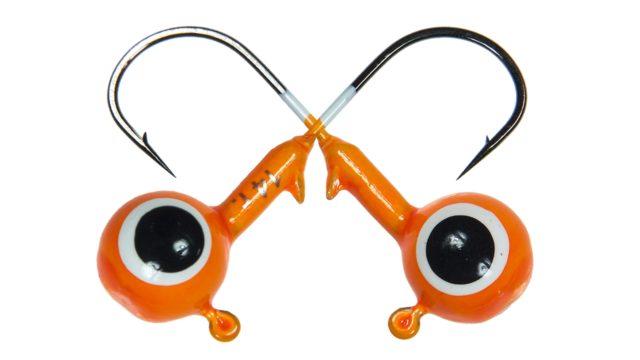 Джиг шар Strike Pro крашеный с глазами 5,5гр кр. №1/0 10шт оранжевый (PJH-06#ORANGE, )