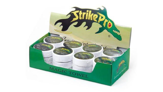 Полотенце с логотипом STRIKE PRO (зеленые и белые) (, )